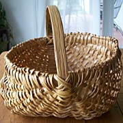 North Carolina Handwoven Buttocks Basket