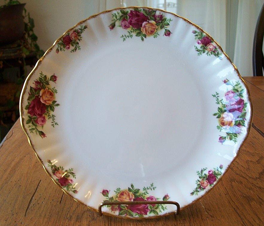 Royal Albert Old Country Roses Cake Platter England