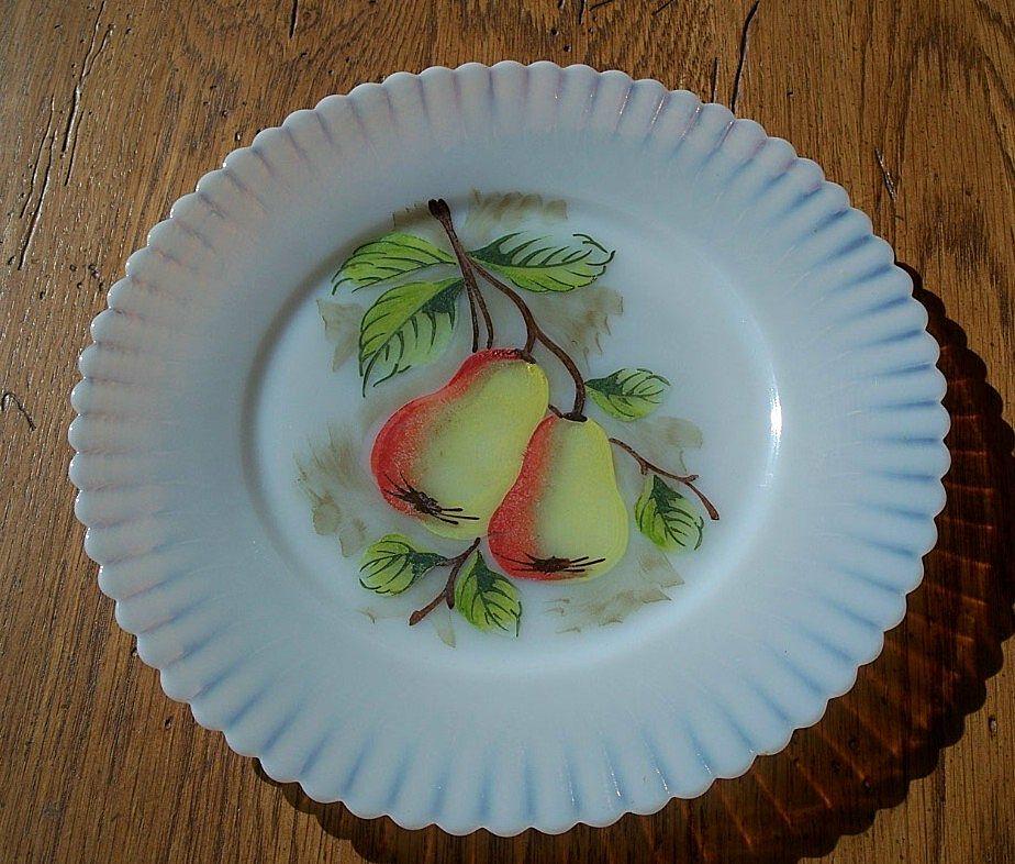 MacBeth Evans Petalware Salad Plate Fruit Design