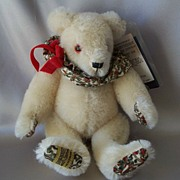 Merrythought Renaissance White  Mohair Bear Limited edition