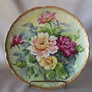 Hand Painted  Floral Wall Plate