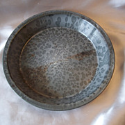 One Old Grey Speckled Enamel Ware Pie Pan