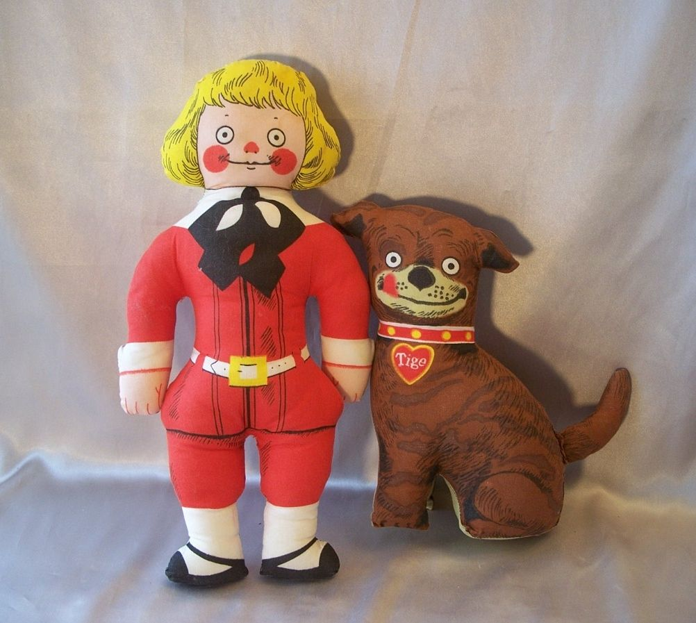 Buster Brown And Tige Stuffed Pillow Dolls