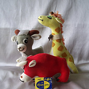 Dakin Dream Pets Bull Giraffe and Donkey