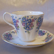 Royal Albert Dainty Dina Series Emily Cup and Saucer