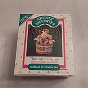 1987 Hallmark Keepsake Ornament  Three Men in a Tub