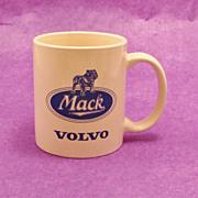 Vintage MACK VOLVO Truck Sales Advertising Mug