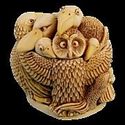 Harmony Kingdom Teacher's Pet Owl Birds Treasure Jest Box