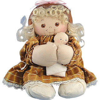 Jan Shackelford Doll Girl Young'un Soft Sculpture Vintage
