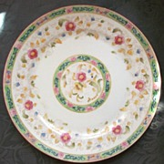 "Noritake-Nippon 10"" Plate, ""The Oriental"", Multi-Color Florals, 1920s"