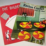 Pair of Kitchen Decorative Crochet Craft Projects (Coats & Clarks, Nos. 243 & 304) 1948 & 1954