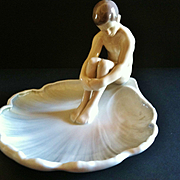 "Vintage Bing & Grondahl Porcelain of ""Boy on Lily Pad"", #1660"
