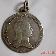 Francesco II of Asburgo 1795 Coin/Pendant