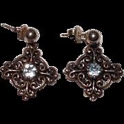Sweet KBN Sterling Silver and Topaz Earrings