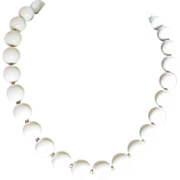 Vintage Trifari Cream Bead Mid Century Choker Necklace 2 FOR 1 OFFER