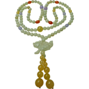 Vintage Multicolor Jadite Necklace