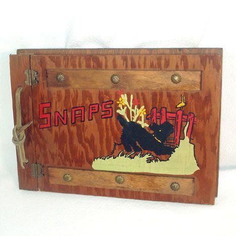 Scotty Dog Painted Wood Photo Album