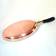 Wagner Germany Copper Oval Skillet Poaching Pan
