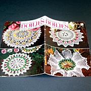 American Thread Crochet Flower Doilies Pattern Booklet