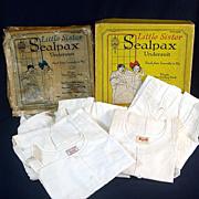 1922 Box 5 Unused Sealpax Girls Undersuits Union Suits Size 4
