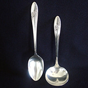 Queen Bess Oneida Silverplate Gravy Ladle and Tablespoon
