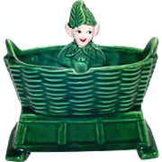 Treasure Craft Pixie Elf in Basket Planter