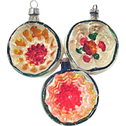 1930s Germany Deep Indented Christmas Ornaments