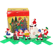 Boxed 1960s Christmas Expansion Display Gnomes Dwarfs Ornament