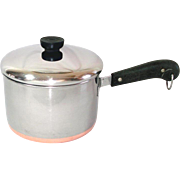 Revere Ware Copper Clad Stainless Steel 3 Quart Covered Saucepan