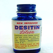 Desitin Lotion Vintage Sample Medicine Bottle With Contents