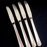 April Rogers International Silver Silverplate 4 Grille Knife Knives