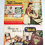 Four 1950s Crochet Pattern Instruction Booklets, Nice Variety of Patterns