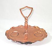 Gregorian Copper Handled Tray For Salt Pepper Shakers