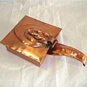 Gregorian Copper Square Silent Butler Leaf Design