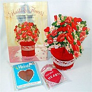 Hearts and Flowers Honeycomb Paper Valentine Decorations