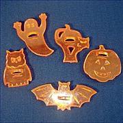 Set Transparent Orange Plastic Halloween Cookie Cutters