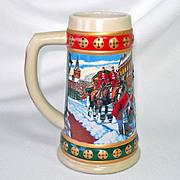Treasure Craft 1950s Santa in Sleigh Christmas Planter