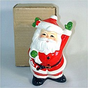 Waving Santa Claus Christmas Coin Bank in Original Box