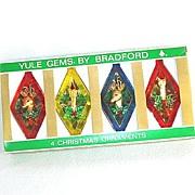 Bradford Yule Gems Box Plastic Diamond Scene Christmas Ornaments