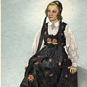"""Girl in Norwegian traditional Costume""  (1950)"