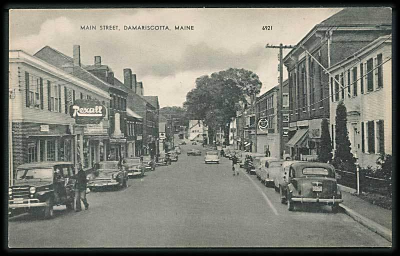"""Main Street, Damariscotta""  (1950')"