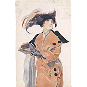 """Woman in Hat with Feather""  (1914)"