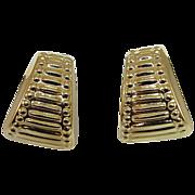 14 Karat Yellow Gold Triangle Earrings