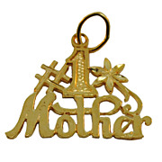 14 Karat Gold #1 Mother Charm/Pendant