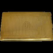14 Karat Yellow Gold Cartier Cigarette Box