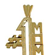 14 Karat Gold #1 Mom Charm/Pendant
