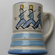 """Vintage Stangl """" MUSICAL MUG"""" RARE Tin Soldiers Kiddieware Works MINT Pottery"""
