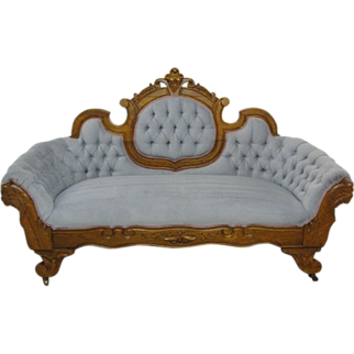 Victorian Style Button Tuft Cameo Back Sofa