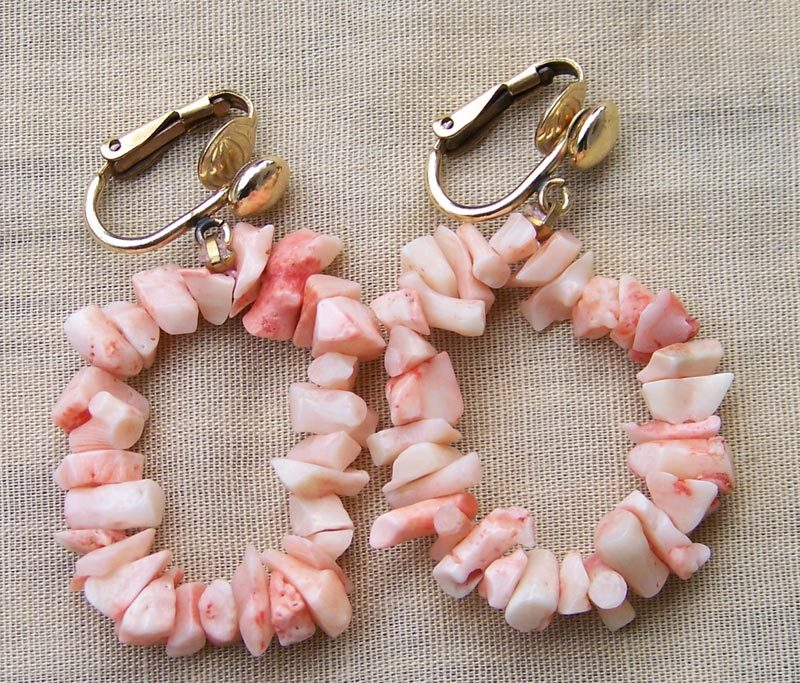 Angel Skin Branch Coral 14KGF Clip Earrings
