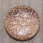 Engraved 14k Rose Gold Button Cuff Links Cufflinks